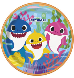 "unique Baby Shark 9"" Plate - 8ct."