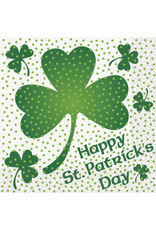 unique Lucky Shamrock Lunch Napkins - 16ct.