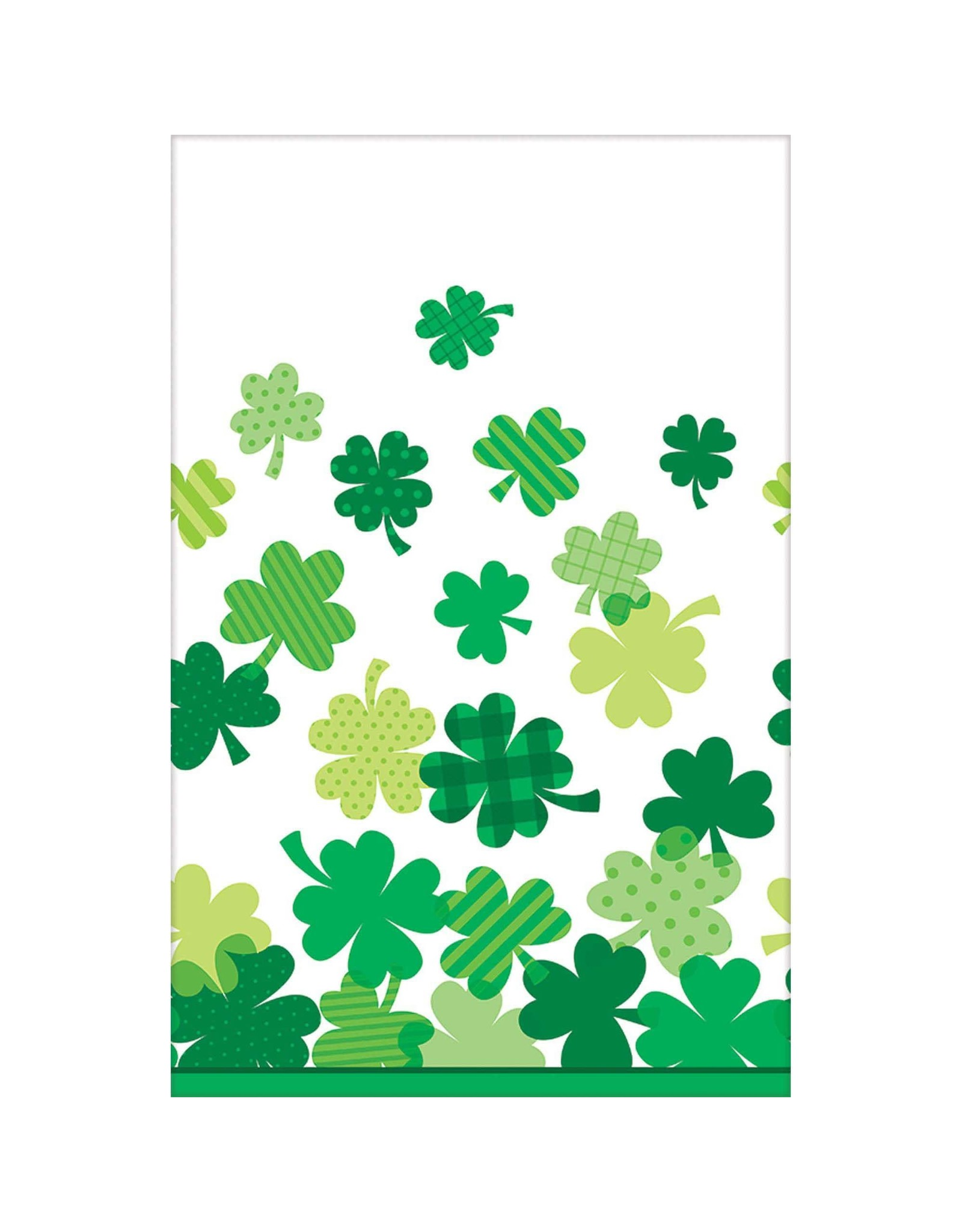 """Amscan Blooming Shamrocks Tablecover (54"""" x 108"""")"""