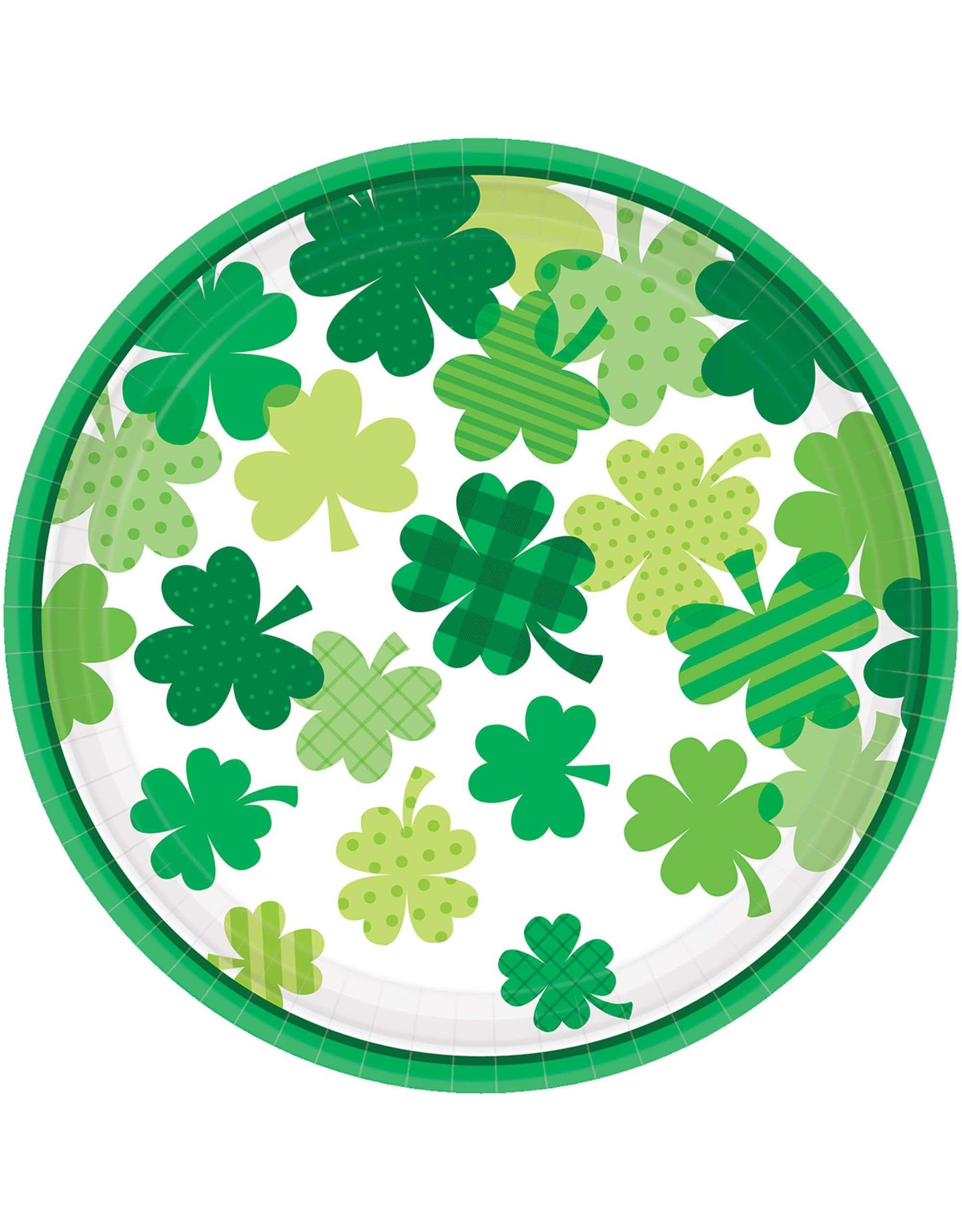 "Amscan Blooming Shamrocks 9"" Plates - 18ct."