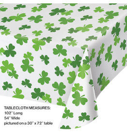 "creative converting Shamrocks All Over Tablecover - (54""x102"")"