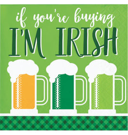Party Creations U Buying? I'm Irish! Bev Napkins - 16ct.