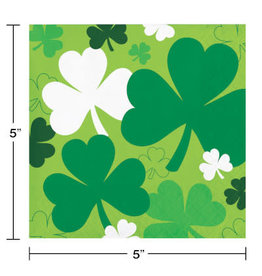 Party Creations Shamrocks Bev Napkins - 16ct.