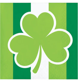 Party Creations St Patricks Day Shamrock Bev Napkins - 16ct.