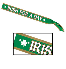 Beistle Irish For A Day Satin Sash