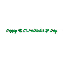 Beistle Happy St. Patrick's Banner - 7ft.