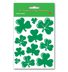 Beistle Shamrock Sticker Sheets - 4ct.