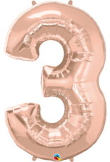 """Paper  First Affiliates 40"""" Rose Gold Number Balloons"""