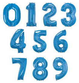 "Paper  First Affiliates 40"" Sapphire Blue Number Balloons"