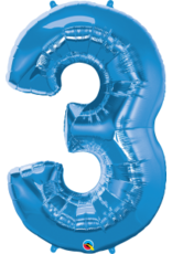 """Paper  First Affiliates 40"""" Sapphire Blue Number Balloons"""