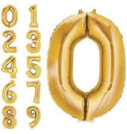 "Paper  First Affiliates 40"" Gold Number Balloons"