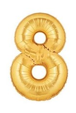 """Paper  First Affiliates 40"""" Gold Number Balloons"""
