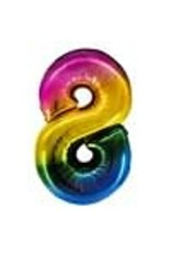 """Paper  First Affiliates 40"""" Rainbow Number Balloons"""