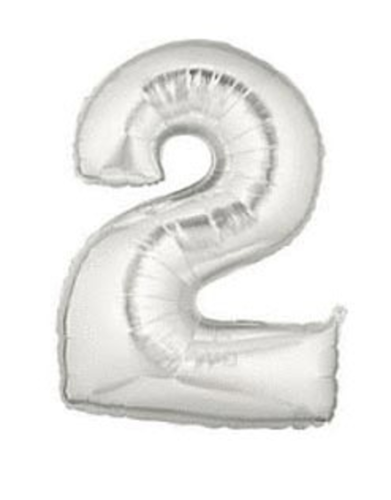 "Paper  First Affiliates 40"" Silver Numbered Balloons"