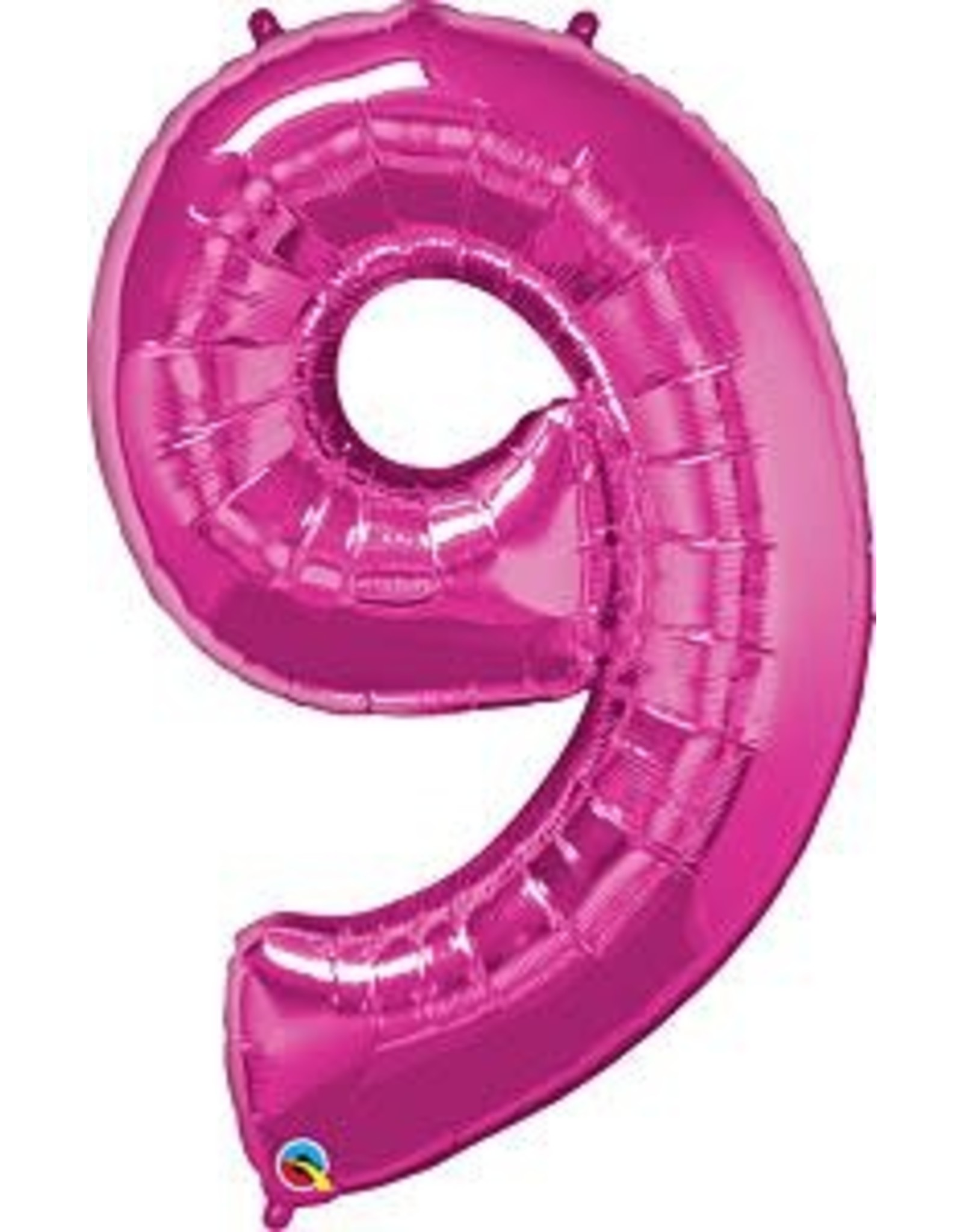 """Paper  First Affiliates 40"""" Hot Pink Numbered Balloons"""