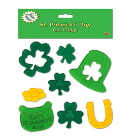 Beistle St Patrick's Day Gel Clings - 8ct.