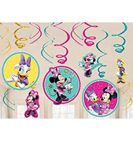 Amscan Minnie Mouse Swirl Decorations - 12ct.
