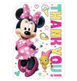 Amscan Minnie Mouse Thank Yous - 8ct.