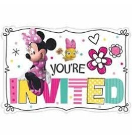 Amscan Minnie Mouse Invites - 8ct.