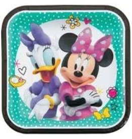 "Amscan Minnie Mouse Square 7"" Plates - 8ct."