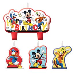 Amscan Mickey On The Go Candle Set - 4ct.