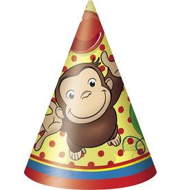 unique Curious George Party Hats - 8ct.