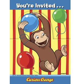 unique Curious George Invites - 8ct.