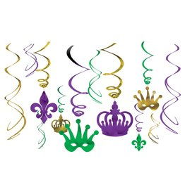 Amscan Mardi Gras! Swirl Decor - 12ct.