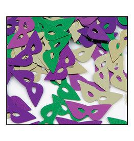 Beistle Mardi Gras Mask Confetti - 0.5oz