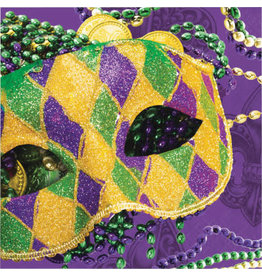 Party Creations Masks of Mardi Gras Lunch Napkins - 16ct.