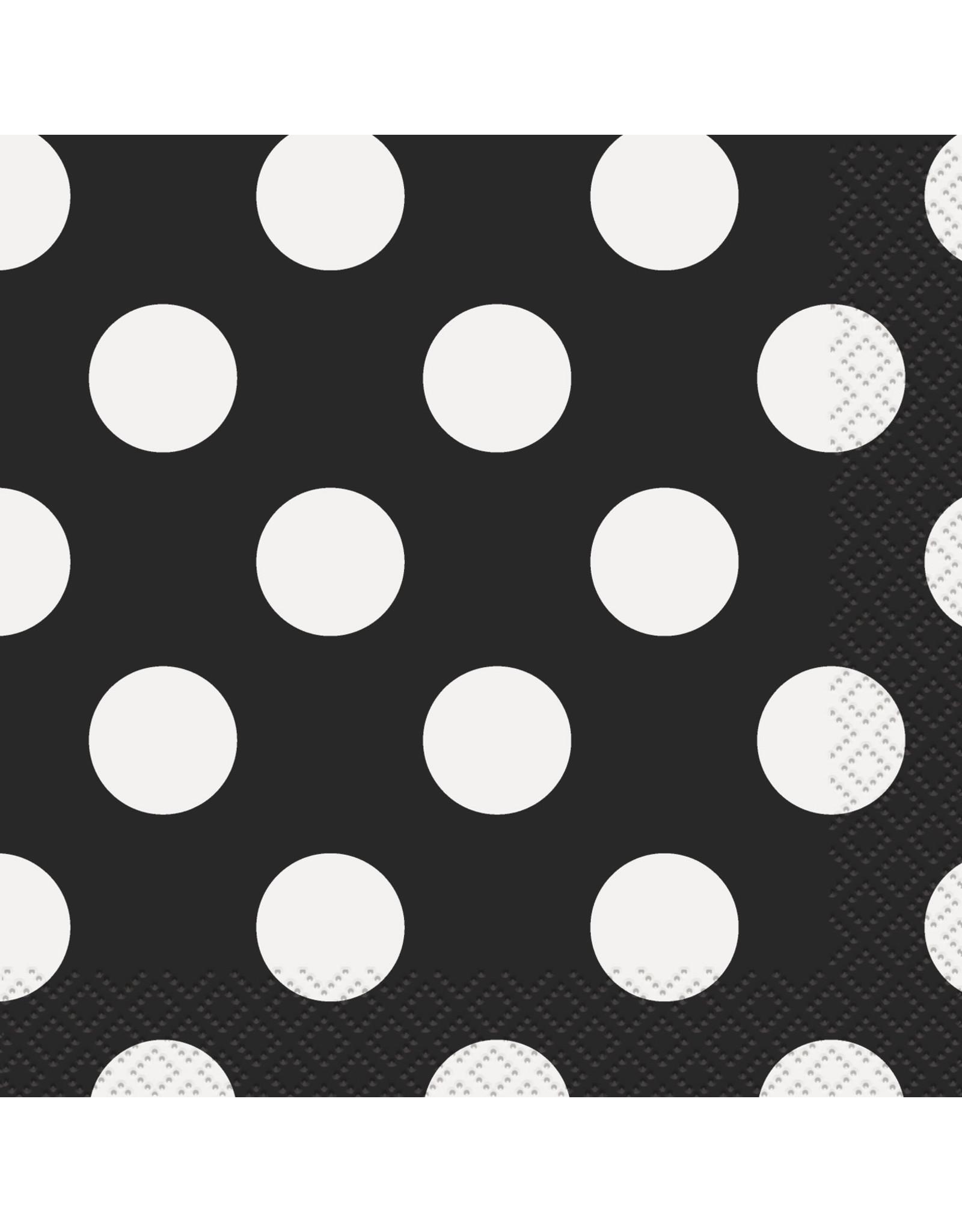 unique Black Dots Bev. Napkins - 16ct.