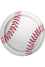 "unique Baseball 9"" Plate - 8ct."