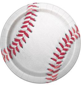 """unique Baseball 9"""" Plate - 8ct."""