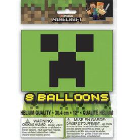 unique Minecraft Latex Balloons - 8ct.
