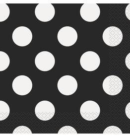 unique Black Dots Lunch Napkins - 16ct.