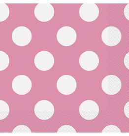 unique Hot Pink Dots Lunch Napkins - 16ct.