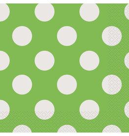 unique Lime Green Dots Lunch Napkins - 16ct.