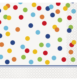 unique Rainbow Polka Dot Bev. Napkin - 16ct.