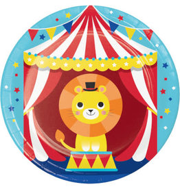 """Party Creations Circus Party 7"""" Plates - 8ct."""