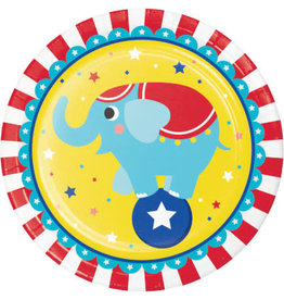 """Party Creations Circus Party 9"""" Plates - 8ct."""