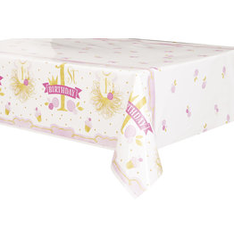 unique Pink & Gold 1st Birthday Tablecover