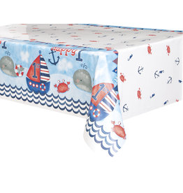 unique Nautical 1st Birthday Tablecover