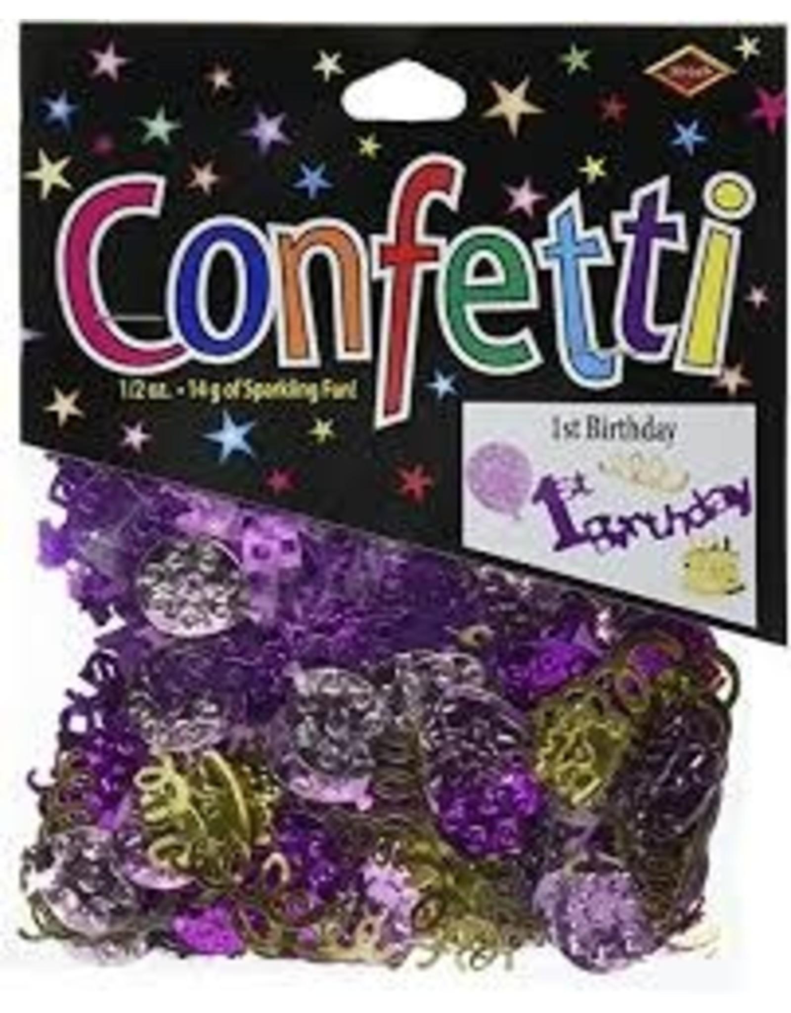 Beistle 1st Birthday Girl Confetti