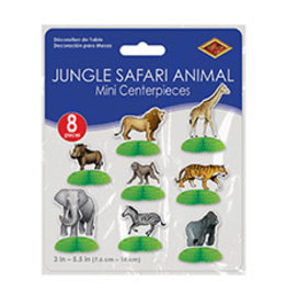 Beistle Jungle Safari Animal Mini Centerpieces - 8ct.
