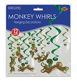 Beistle Monkey Whirls Hanging decoration - 12ct.