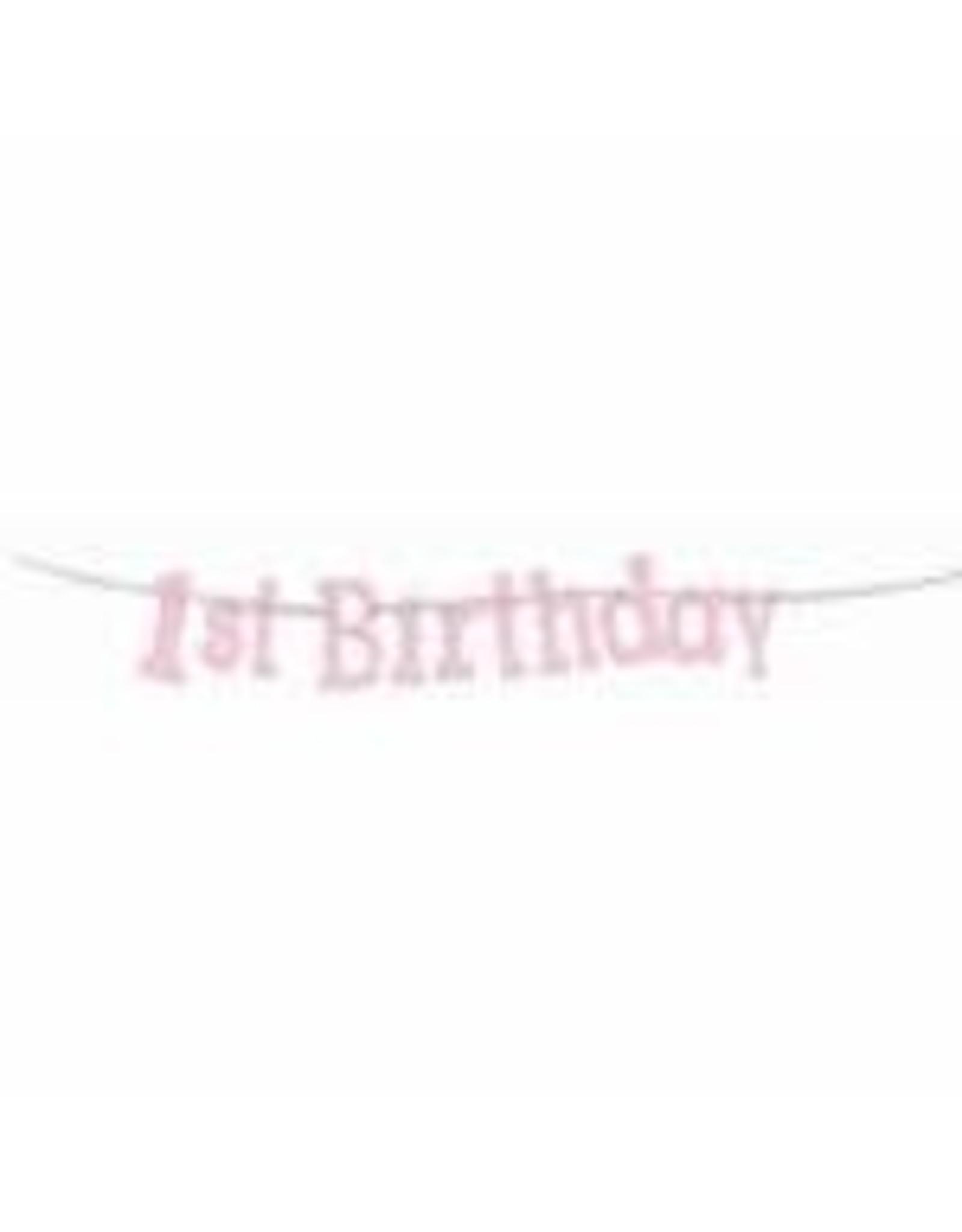 forum 1ST Birthday Girl Glitter Banner - 8ft.