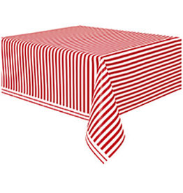 "unique Ruby Red Stripe Tablecover (54"" x 108"")"