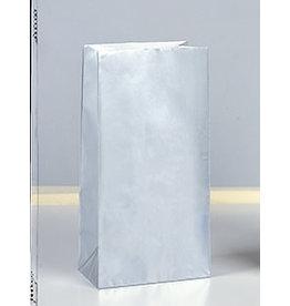 unique Silver Metallic Party Bags - 10ct.