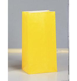 unique Sun Yellow Paper Party Bags - 12ct.
