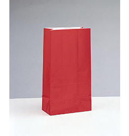 unique Ruby Red Paper Party Bags - 12ct.